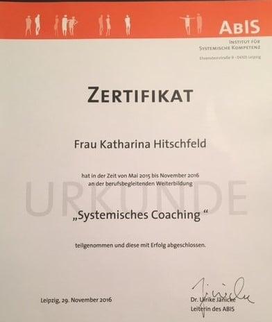 Zertifikat Systemischer Coach