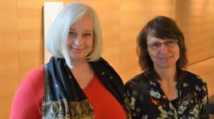 lunch club am 27.04.2017: Geschäftsführerin Katharina Hitschfeld und Büroleiterin Steffi Klement | Foto: Peter Raasch
