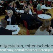 Mitreden, mitgestalten, mitentscheiden – Impulse zur Erneuerung demokratischer Beteiligung | Büro Hitschfeld