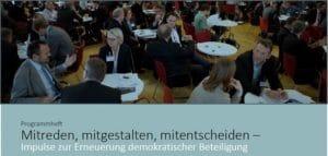 Mitreden, mitgestalten, mitentscheiden – Impulse zur Erneuerung demokratischer Beteiligung   Büro Hitschfeld