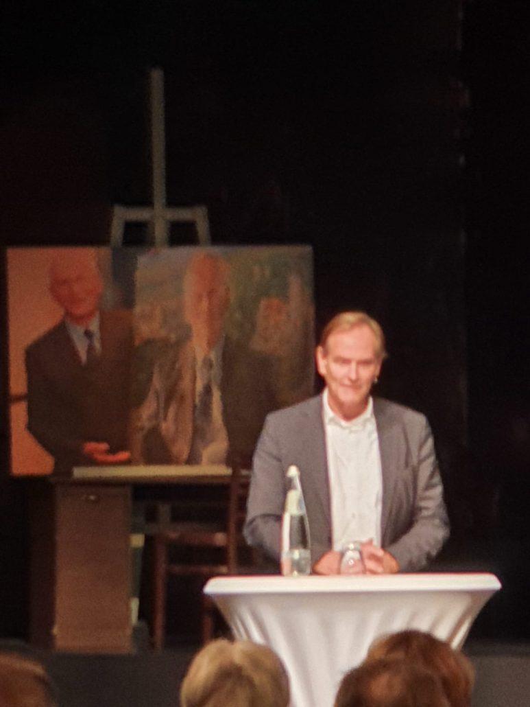 """Buchpremiere """"Gestern - heute - morgen"""" am 18.9.2020 in der Schaubühne Lindenfels, Oberbürgermeister Burkhard Jung, Foto: Büro Hitschfeld"""